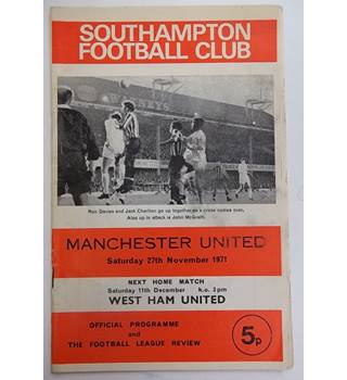 Southampton v Manchester United. 11th December 1971