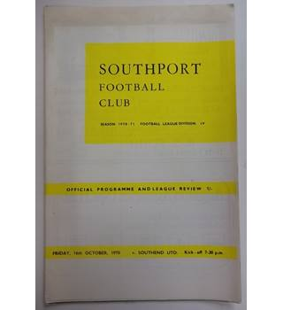 Southport v Southend United. 16th October 1970