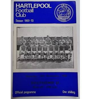 Hartlepool v Southend United. 13th December 1969