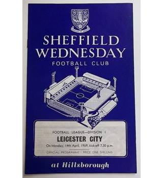 Sheffield Wednesday v Leicester City. 14th April 1969
