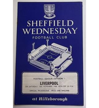Sheffield Wednesday v Liverpool. 16th November 1968