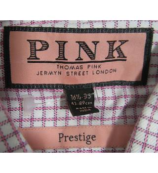 "Thomas Pink Shirt - Pink/White - Size 44"" Chest 16.5"" Neck Thomas Pink, Jermyn Street - Size: XL - Multi-coloured"