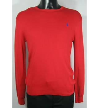"Polo (Ralph Lauren) Jumper - Red - Size S (Chest 36""-38"") Ralph Lauren - Size: S - Red"