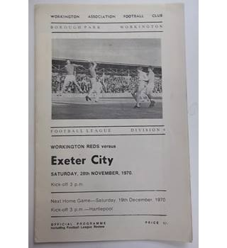 Workington Reds v Exeter. 28th November 1970