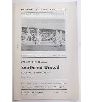 Workington Reds v Southend United. 6th February 1971