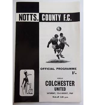 Notts. County v Colchester United. 23rd August 1969