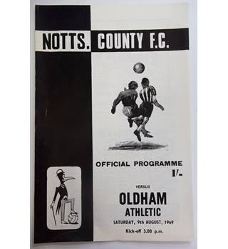 Notts. County v Oldham Athletic. 9th August 1969