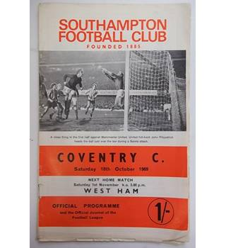 Southampton v Coventry City. 18th October 1969