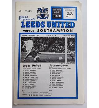 Leeds United v Southampton, 4th March 1972