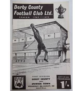 Derby County v Ipswich Town. 20th August 1969