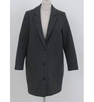 Kings Of Indigo - Size: S - Grey single-breasted coat