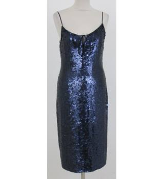 Whistles: Size 8: Blue sequined strappy dress