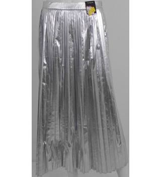 Marks & Spencer Autograph Sliver Pleated Skirt UK Size 10 / Euro Size 38