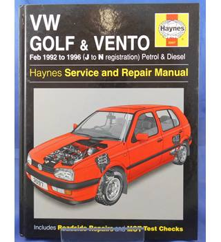 VW Golf & Vento 1992 to 1996 (J to N registration)