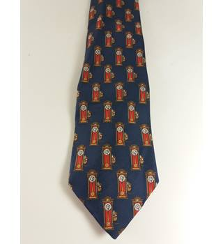 St Michael M&S Vintage Novelty Hickory Dickory Dock Navy Tie