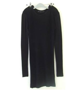 "Lara Knit Size 28"" chest - Black - Knee length dress"