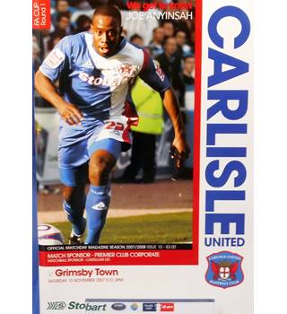 Carlisle United v Grimsby Town - FA Cup 1st Round - 10th November 2007