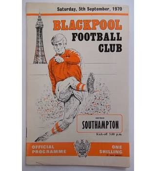 Blackpool v Southampton. 5th September 1970