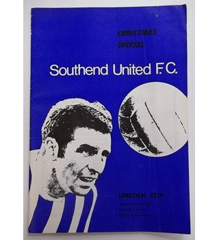Southend United v Lincoln City. 26th December 1969