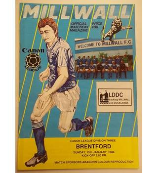 Millwall v Brentford. 15th January 1984