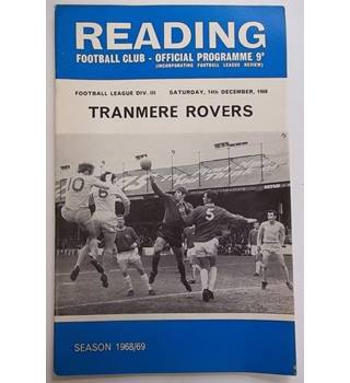 Reading v Tranmere Rovers. 14th December 1968