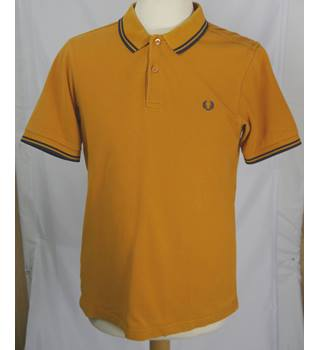 Fred Perry - Size: M - Mustard and Navy - Polo shirt