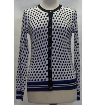 M&S Collection size 8, black & white spotted cardigan