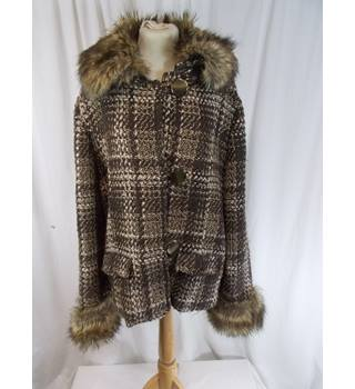 M&S Per Una  - Size 18 - Patterned Brown Jacket