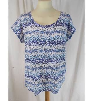 M&S collection - Size 12 - Blue Patterned Top
