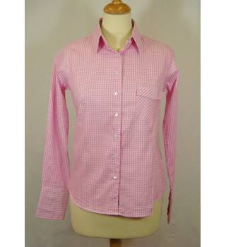 Rydale - Size : 10 - Pink - Gingham - Long Sleeved Shirt