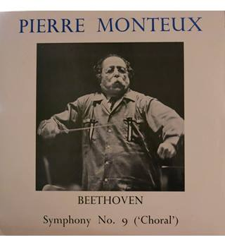 Beethoven Symphony No.9 (Choral). Pierre Monteux conducting London Bach Choir/LSO.  WRC T415/6