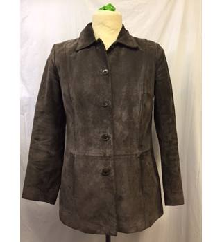 M&S - size 14, brown suede jacket