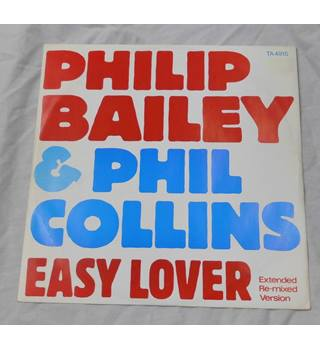 "Philip Bailey Phil Collins Easy Lover Extended Remix 12"" Single TA 4915 1984"