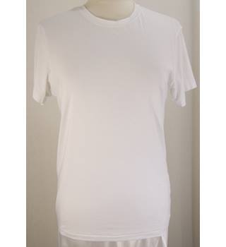 M&S Marks & Spencer - Size: M - White Crew Neck Top