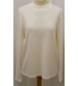 M&S Marks & Spencer Classic- Size: 12 - Cream  Jumper