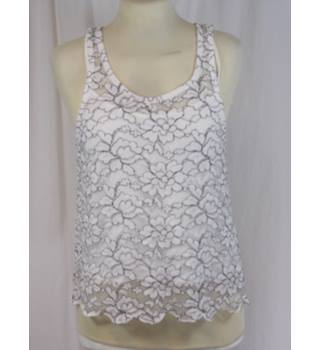 H&M Divided - Size XS - White Vest Top