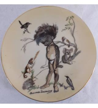 Brownie Downing Aboriginal Child Plate