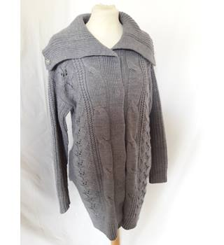 Dorothy Perkins - Size S - Grey with collar cardigan