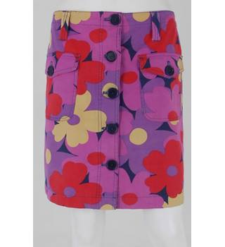 Boden Size 10 Multicoloured Floral Mini Skirt
