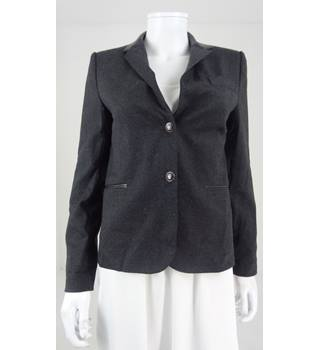 Zara Woman Size S Charcoal Grey Blazer