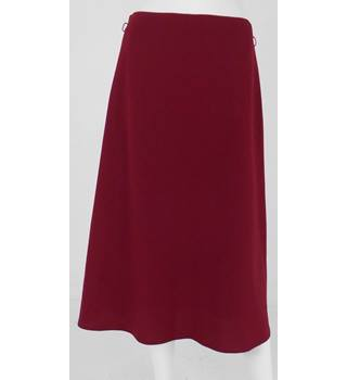 M&S Size 10 Red Wine Coloured, A-Line Skirt