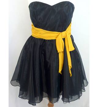 Lipsy - Size: 14 - Black and yellow - Dress