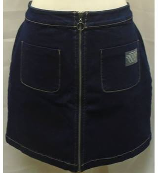 Papaya - Size: 14 - Blue Denim A-line Skirt