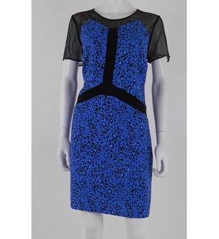 BNWT Pied A Terre Size 12 Blue and Black Short Dress