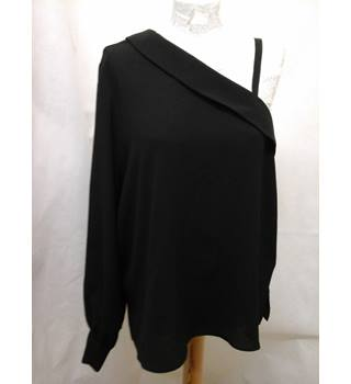 NWOT M&S Autograph Size: 14  Black One Sleeved Top