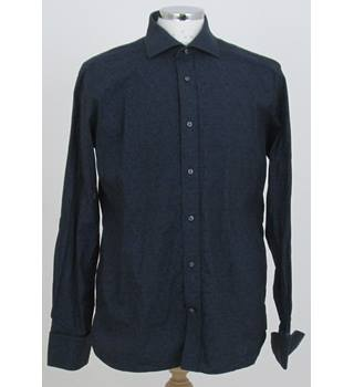 "Ted Baker size: collar: 16"" navy blue long sleeved shirt"
