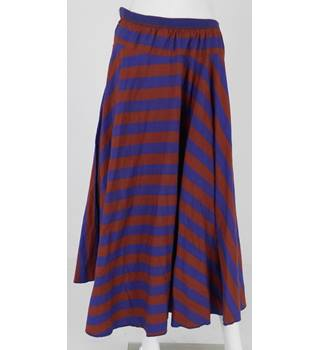Liberty 'Ready to Sew' Eggplant Purple and Rust Red Striped Skirt