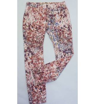 Next size 12 floral trousers