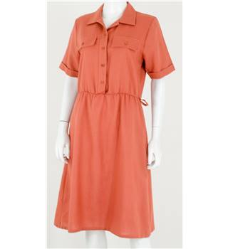 Selective Size: 12 Salmon Pink Shirt Dress