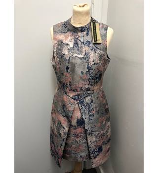 Sample BNWT COAST,  Women's Multi Blair Marble Jacquard Dress Coast - Size: 12 - Multi-coloured - Knee length dress